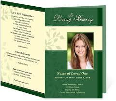 Funeral Program Covers Modern Funeral Program Template