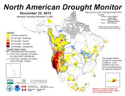 United States Drought Map by November 2015 North American Drought Portal