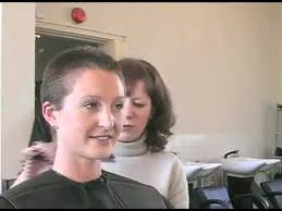 women with boy haircuts in the marines a woman cuts off her ponytail then gets a buzzcut youtube