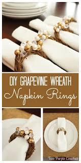 thanksgiving napkin rings craft mini grapevine wreath napkin rings holiday tables napkin rings