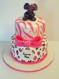 cakes or something like that animal print baby shower cake