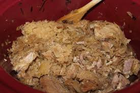 pork rib sauerkraut recipe crock pot food for health recipes