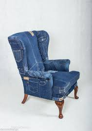 Chair Armchair Jeans Patchwork Denim Sofa Chair Armchair London Jeans