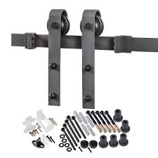 Decorative Hinges Home Depot Truporte 78 75 In Matte Black Bent Strap Barn Door Hardware