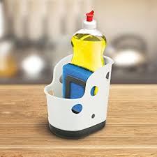 Amazoncom KOVOT Sink Sponge Caddy Kitchen Sponge And Soap - Kitchen sink sponge holder