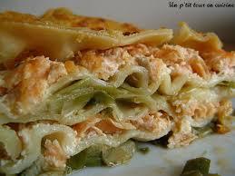 cuisiner le poireau lasagnes aux deux saumons et aux poireaux recette le poireau