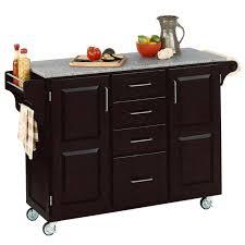 island kitchen island cart with granite top chic white kitchen