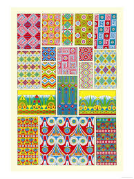 Beautiful Color Combinations Egyptian Motifs Have Beautiful Color Combinations And Geometric
