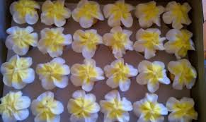 introducing hawaiian flower baby shower cupcakes