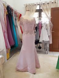 wedding dress pendek dusty pink semi mermaid dress sleeves official website
