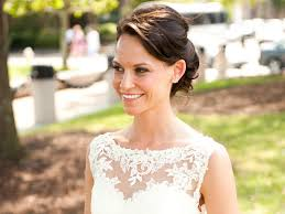 pictures of hairstyle neck line match your hairstyle to your wedding dress neckline wedding
