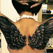 37 and evil wings tattoos