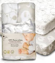 Organic Mini Crib Mattress Organic Cotton Waterproof Portable Crib Pad