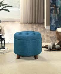 leather ottoman with storage ottoman cube blue storage ottoman