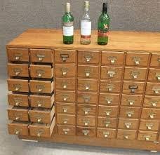 Retro Filing Cabinet Vintage Index Filing Cabinet