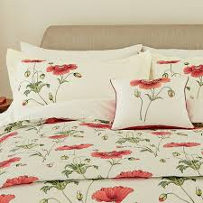 sanderson persian poppy pillowcase from palmers department store