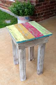 Refinishing Coffee Table Ideas by Recycled Fence Pickets Made Into A Small Coffee Table Painted