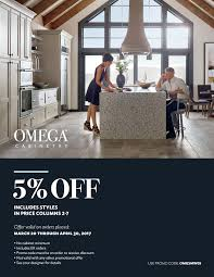 Omega Kitchen Cabinets Prices Pearl Design Group Omega Cabinetry Spring Promotion