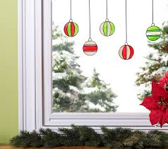 ornament window clings project plaid
