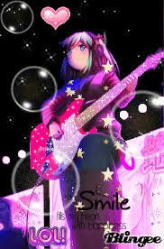 wallpaper pink guitar msyugioh123 images anime guitar girl wallpaper and background photos