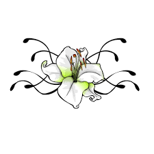 small lily flower tattoos cool flower tattoo designs uncommon black lily tattoo on the hip