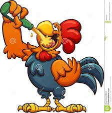 drunk rooster stock vector image 88534262