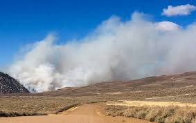 U S Route 395 In by Chris Fire Forced Closure Of Hwy 395 In California U2013 Wildfire Today