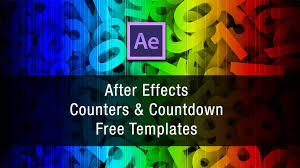 after effects counter and countdown free templates
