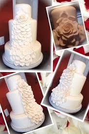 wedding cake gum gum paste and petals 4 tiered wedding cake