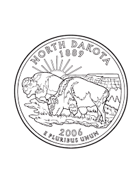 coloring pages quarter dakota state quarter coloring page usa state quarters
