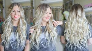 Hair Extensions Long Beach Ca by How To Tone Brassy Blonde Clip In Extensions Youtube