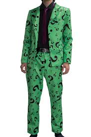 halloween suit amazon com riddler costume suit shirt tie question mark green