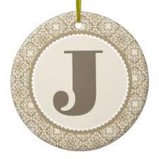 ornamental letter j ornaments keepsake ornaments zazzle