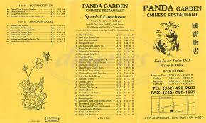 Long Beach California Map Panda Garden Menu Long Beach Dineries