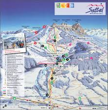Swiss Map Ski And Snowboard Sattel Hochstuckli Winter Sports In And Near
