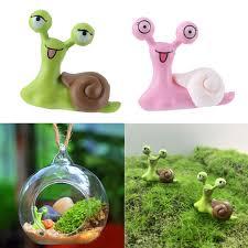 2pcs resin miniature snail creative design home garden ornament