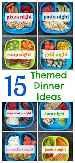 best 25 dinner themes ideas on family meal planning
