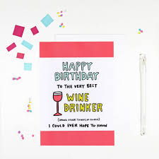 birthday wine happy birthday wine drinker birthday card by angela