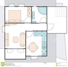 Floor Plan Of An Apartment Apartment Architecture Plan Stock Images Image 14974454