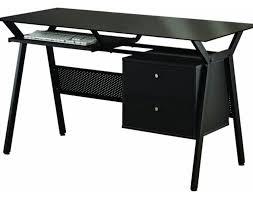 Black Glass Computer Desks For Home Desk Furniture Gorgeous Black Computer Desk With Bookshelves