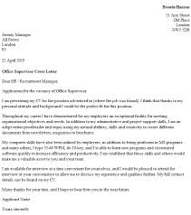 office supervisor cover letter example u2013 cover letters and cv examples
