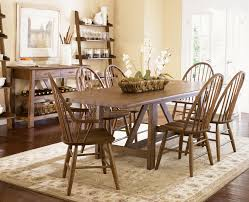 seven piece trestle table and windsor back chair set by liberty seven piece dining set