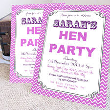 personalised u0027hen party u0027 wreath invitations hens party