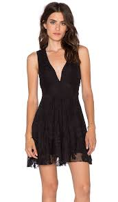 free people embroidered mesh reign over me dress in black revolve