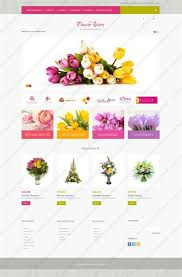Flower Store Website Templates Flowers Custom Website Template Flowers Website