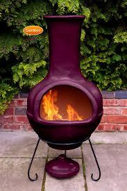 interior designs colima mexican clay chiminea aubergine fire pits