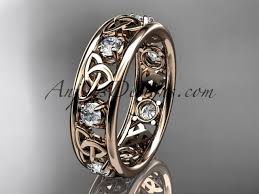 celtic wedding knot ceremony gold celtic knot wedding band ct7160b