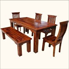 rustic solid wood dining table dining table set with bench and chair sets rustic solid wood casual