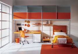 Orange And Blue Home Decor Fabulous Grey And Orange Bedroom With Additional Home Decor Ideas