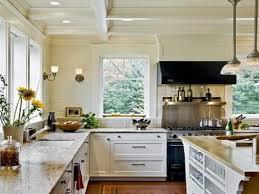 Kitchen No Cabinets Grey Lower White Upper Cabinets
